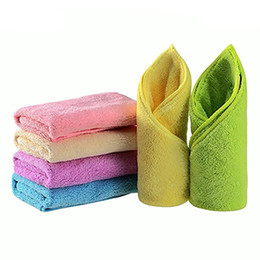 Wholesale Hand Wash Sale - 6 pcs New 2017 Hot Sale Hand Towel Bamboo Baby Towel 30x30cm Face Towels Baby Care Wash Cloth Kids Hand For Newborn