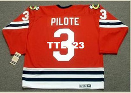 a237759b49c Mens #3 PIERRE PILOTE Chicago Blackhawks 1963,1967 CCM Vintage Retro Hockey  Jersey or custom any name or number retro Jersey custom blackhawks jersey on  ...