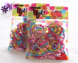 Wholesale assorted hair - 50pcs lot cartoon animal shape elastic hair bands baby mini assorted elastic rubber hair rope band ponytail holder for kids girls