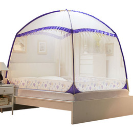 Canada Moustiquaire pliée pour lit double insecte porte trois mosquitera tente de lit adultes moustiquaires yourte supplier door mosquito netting Offre