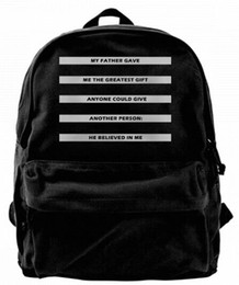 gifts for teens girls Coupons - My father gave me the greatest gift He believed in me Canvas Best Backpack Unique Camper Backpack For Men & Women Teens College