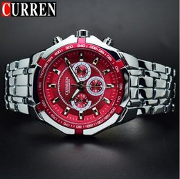 Wholesale curren white - 2018CURREN Men Watches Top Brand Luxury Stainless Steel Man Watch Wrist Male Clock Curren Men Watches Big Relogio Masculino