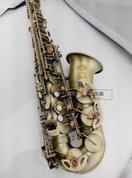 Wholesale Antique Bakelite - High quality selmer54 alto saxophone   wind E flat matte green antique saxophone Free shipment