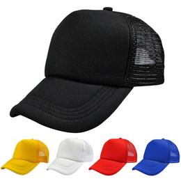 7466a167c23 2018 Summer Shading Sun Hats Fancy Plain Color Blank Hand Drawing  Adjustable Baseball Caps Solid Trucker Mesh Blank Visor