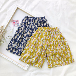 Wholesale Girls Legging Shorts - NEW arrival Baby Clothes Summer Girls full flowers Wide leg short all-match 100% cotton baby girl short