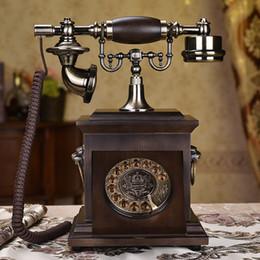 2019 telefone de casa rosa quente Plataforma de madeira maciça retro telefone fixo telefone europeu antigo telefone americano moda criativa telefone de escritório em casa