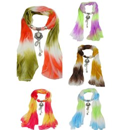 Wholesale Winter Scarves Rhinestones - Women winter scarf Pendant Scarf Tassel Rhinestone Jewelry Scarves girl cachecol female bufanda mujer Shawl Blanket Warp
