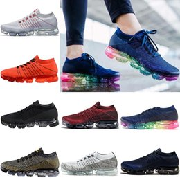 Wholesale Green Boots For Women - Newest Vapormax Running shoes For Men Women Triple Black White Deep Red Blue Dark Grey MultiColor Jogging Sport Athletic Sneakers Eur 36-45