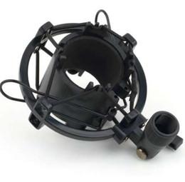 Mikrofonhalterung online-Universal 3KG erträglich Load Mic Mikrofon Shock Mount Clip Halter Ständer Radio Studio Sound Recording Bracket Schwarz Professional