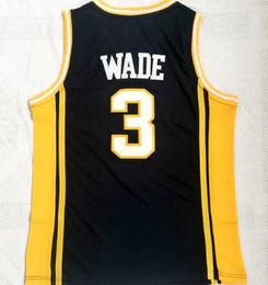 camisas dos homens da tela Desconto Marquete College 3 Wade azul escuro novo tecido jerseyS, camisas de basquete camisas TOPS, formadores de basquete JerseyS TOPS, MENS Basketball wear