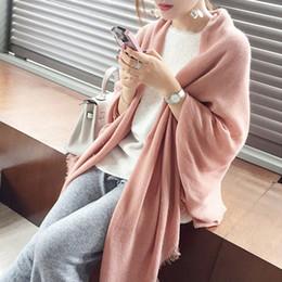 2019 розовое кашемировое пончо 2018 искусственный кашемир розовый шарф для женщин зимнее пончо женские длинные шарфы искусственный кашемир женская шапочка зимние женские пальто шаль дешево розовое кашемировое пончо