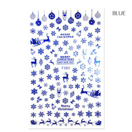 Wholesale 3d christmas nail designs - 3d stickers 1 Sheet 3d Stickers Christmas 2017 Design White Black Adhesive Nail Art Tip Cartoon Elk Snowflake DIY Color