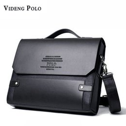 Wholesale male leather briefcase - VIDENG POLO 2017 Brand Men leather Handbag Messenger Bags Fashion Crossbody Shoulder Bags Casual briefcases Male travel