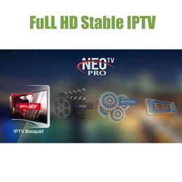 мини-миль на галлон Скидка Neotv IPTV подписка французский арабский Европа испанский итальянский Неопро Нео один год стабильный полный HD для огня ТВ стикер