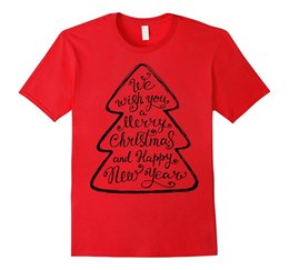 Wholesale White Wishing Trees - Wish You A Merry Christmas and Happy New Year Shirt Tree