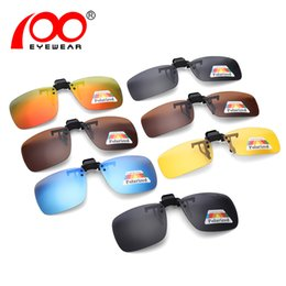 Clip polarizado de los vidrios de conducción online-Clip polarizado en gafas de sol Hombres Mujeres Visión nocturna Clip de conducción en gafas # CG9103T