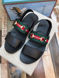1795743918e212 Classic non-slip sandals 207560 Men Slippers Slippers Drivers Sandals  Slides Sneakers Leather Slipper