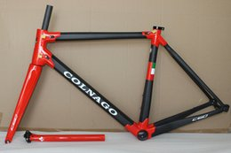 Wholesale Carbon Road Bike Frameset Sale - 18 colors 2018 HOT SALE NEW colnago C60 road bike carbon frame full carbon fiber road bike frame size XS S M L XL T1000 carbon frameset