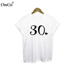 726c21b02058 Women s Tee Thirty T Shirt 30th Birthday Tshirt Cute 30th With Heart Women  T Shirt White Black Hipster Tumblr Graphic Tee Shirt Femme