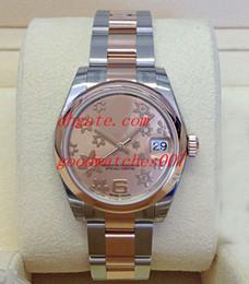 2019 oro rosa eta Venta caliente Reloj de alta calidad Lady Yellow Dial 31mm 178241 de lujo 18K Rose Gold Asia ETA 2813 Relojes automáticos de las mujeres rebajas oro rosa eta