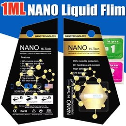 Wholesale Universal 3d Glasses - Universal 1ML NANO Technology Liquid Screen Protector 3D Glass Invisible Full Cover Anti Scratch Flim For iPhone iPad Samsung Smartphones