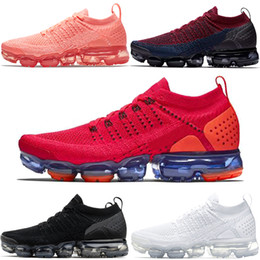 12bd98ca6f671d Nike Air Vapormax Top 2.0 Scarpe da running Uomo Donna Crimson Pulse Triple  Nero Bianco Rosso Orbit Olympic Sports Sports Trainer sneaker Vendita  online ...