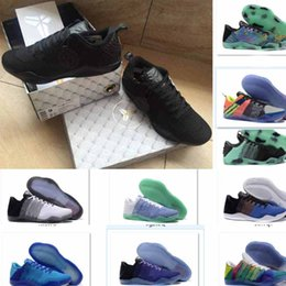 Wholesale Lighted Horse - 2018 Drop Shipping Quality Kobes 11 Elite kbs 11s Red Horse Oreo Sneakers KB 11 Casual Shoes With Shoes Box size40-46