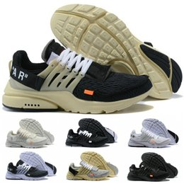 calçados masculinos Desconto 2018 Presto Mens Running Shoes Mousseline Preto Noir Mousseline AA3830 Design Comum Sapatos Masculinos Marfim Branco Mulheres Tênis Esportivos
