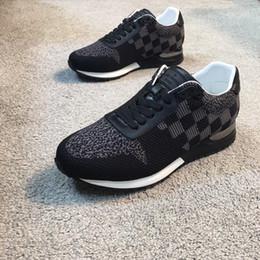 2018 marque de luxe de mode s enfuient baskets tricoté tissu casual  chaussures livraison gratuite OG boîte 242f378b115