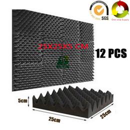 """Tuiles de son en Ligne-12 PCS Fireproof Egg Crate Acoustique Foam Studio Panneaux Insonorisés Sound Absorption Tile Pro Audio Équipement Sound Treatment Board 10X10X2 """""""
