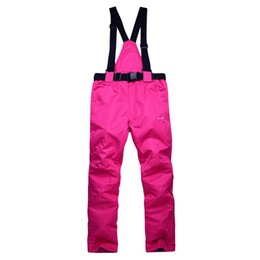 Wholesale Women S Snowboard Pants - Wholesale- Free Shipping 2016 Latest High Quality Women and Men Ski Pants Snowboard pants Waterproof Windproof BreathableTrousers Pants h80