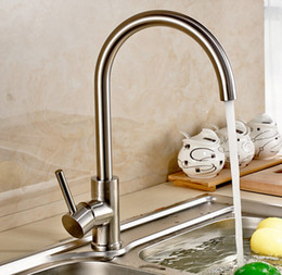 Wholesale Purified Filtered Water - Free shipping 304 Stainless Steel Lead-free Kitchen Faucet Mixer Drinking Water Filter kitchen Tap purified Water Spout 313
