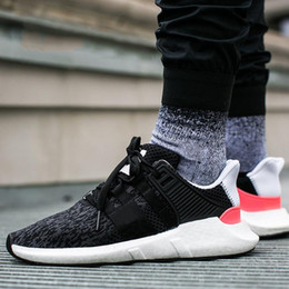 Wholesale Support Hunting - 2018 EQT 93 17 Men Running shoes Support Future Black White pink Coat of Arms Turbo Red Women Sports Outdoor Sneakers size 36-44