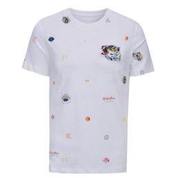 bandana de chien noir Promotion GL Medusa Summer Fashion Designer De Luxe Marque Lettres de Bande Dessinée Impression À manches courtes Hommes Vêtements T-shirt de la jeunesse T-shirt Pour Les Hommes T-shirts