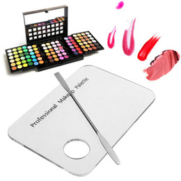empty makeup palettes Promo Codes - 1Pcs Empty Eyeshadow Palette Spatula Tool Foundation Mixing Pigments Makeup Pallete Eye Shadow Pans Palettes Cosmetics