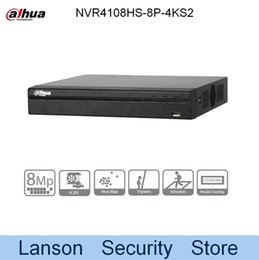 Wholesale udp dns - Dahua 4K NVR4108HS-8P-4KS2 Original Egnlish Version 8 Channel Compact 1U 8PoE H.265 Lite Network Video Recorder