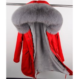 Wholesale Large Faux Fur Hats - MaoMaoKongNatural Fox Large Fur Collar Park High quality faux fur lined with warm winter jackets