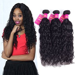 Wholesale Brazil Indians - 8A USOFT Brazil water wave human hair weave Nonchemical composition Pure manual Clean tidy Extension sexy beautiful generous Free shipping