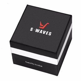 Wholesale Cheap Wholesale Brand Watches - SWAVES New Brand Watches Box Sport Fashion and Casual Paper Black And White Boxes. If Buy The Box With Watch, will be very cheap