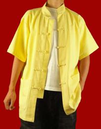 Lino de primera calidad Golden Kung Fu Artes marciales Tai Chi camisa Ropa XS-XL o hecho a medida desde fabricantes