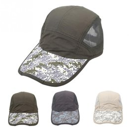 f1829c36aba56 Outdoor Breathable Camo Cap Sun Protection Foldable Quick Drying Outdoor  Sports Cap Hat For Fishing Cycling Hiking Camping discount sun protection  tennis ...