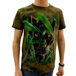 Wholesale brown shirt tie - Wholesale-2017 3d T-shirt brand Animal Printed Cool men Tie Dye T Shirt 100% Cotton Short Sleeve fitness Hip Hop O-Neck Tee-shirt homme