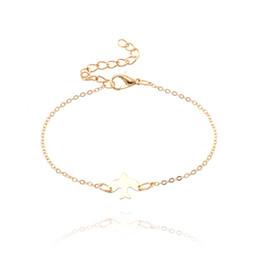 Piccolo fascino per i braccialetti online-Semplice moda pace colomba amuleti braccialetto bella oro argento metallo piccoli uccellini braccialetti braccialetti per le donne ragazze Pulseira