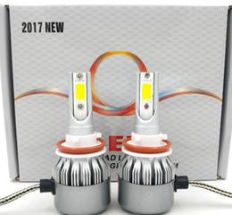 Wholesale H11 H8 Led - H1 H3 H7 9012 9006 880 881 H8 H9 H11 9005 HB3 9145 9140 H10 980W 147000LM LED Fog Light Kit 6000K White Headlight
