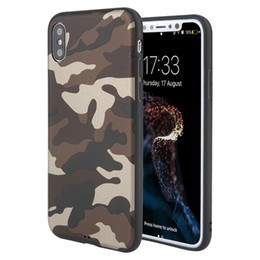 Wholesale wholesale camouflage iphone cover - Army Green Camouflage Phone Case For Iphone X Soft TPU Silicone Back Cover For Iphone 6 7 8 Plus