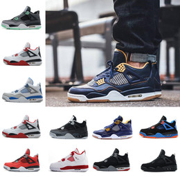 Wholesale hot cork - Drop Shipping Wholesale Basketball Shoes Men 4 Dan 4s Sneakers Boots Authentic Discount Outdoor Hot Sale Sports Shoes US 8-13