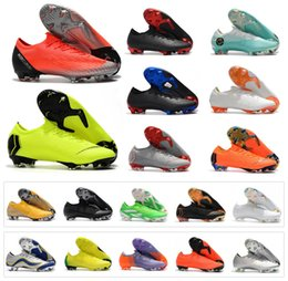 sports shoes f67f7 c0629 Hot Men Mercurial Vapor XII Elite FG 12 Superfly KJ VI 6 360 CR7 NJR Low  Ronaldo Neymar 20th Women Kids Soccer Football Shoes Size 35-45