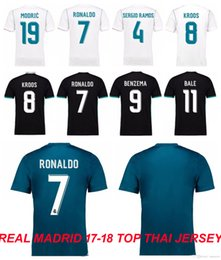 Wholesale Wholesale Real Madrid - Free shipping by DHL EMS Soccer Jersey 2017 18 Real Madrid Home Away 3rd Soccer Jerseys 17 18 Ronaldo ASENSIO Football Shirt Wholesale