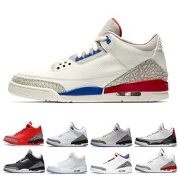 shoes korea sneaker Coupons - 2018 men basketball shoes International Flight Pure white Black Cement Korea Tinker JTH NRG Katrina Free Throw Line Fire Red blue sneaker
