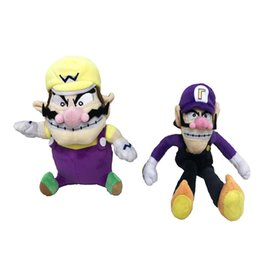 Wholesale Video 24 - New Arrival Cotton 24cm Wario 28cm Waluigi Super Mario Bros Plush Doll Stuffed Toy For Child Best Gifts 21mk2 W